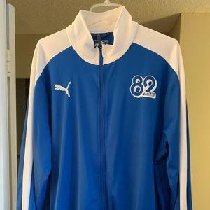 Men's 82 italia soccer team track jacket. Puma.